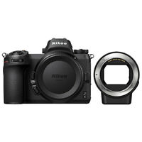 Nikon Z6 Mirrorless Digital Camera Body 24.5 MP Full-Frame & FTZ Mount Adapter