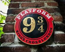 Platform 9 3/4 Premium Solid Wood and Paint Hand Crafted Wizarding World Item