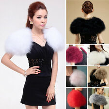 Lady Real Ostrich Fur Coats Jackets Shrug Jacket Best AU Trendy Bolero Bridal