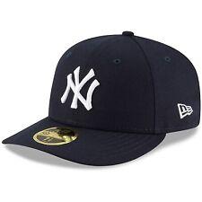 New York Yankees New Era, подлинный, коллекция для поля низкий профиль 59 пятьдесят шапка
