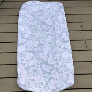 pottery barn kids fitted crib sheet pink Gray Floral Butterfly Organic Cotton