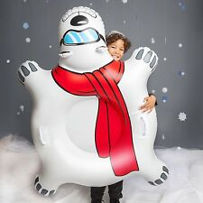 GIANT POLAR BEAR Inflatable Snow Tube Winter Sled Ride Pool Float Worldwide Ship
