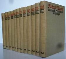 Musik Oper Richard Wagner Werke Gesammelte Schriften 12 Bände komplett 1912