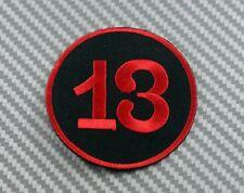 Embroidered Patch Iron Sew Logo Lucky number 13 thirteen biker chopper