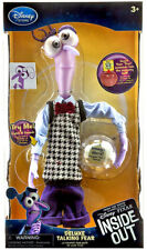 "DISNEY STORE INSIDE OUT FEAR DELUXE TALKING DOLL LIGHT UP MEMORY 10"" PIXAR"
