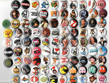 "1980's party button set of 96 pinbacks 1"" badges movies music toys video games"