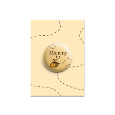 Mummy to Be Bumble Bee Cute Baby Shower Announcement Gift Button Pin Badge 38mm
