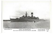 Modern Postcard HMS Glamorgan leaving Portsmouth 1984 Pamlin Prints   (B4l)