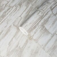 Wallpaper champagne gold metallic stone slab Textured embossed wallcoverings 3D