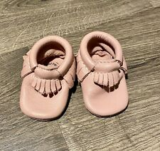 Baby Girl  Freshly picked moccasins Pink Leather Sz 0