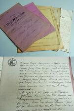 5 Dokumente MUNWILLER (Elsass) 1874-1941 / Verträge / Stempel, Marken. Unikat