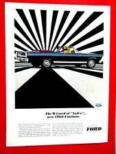 "1966 Ford  Fairlane GT Convertible Wizard Of Aah's-Original Print Ad 8.5 x 11"""