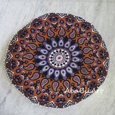 "30"" Large Indian Mandala Pillow Case Round Cushion Pillow Pouf Cover Decor Throw"