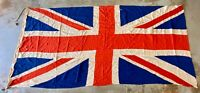 Charming WW2 Era Panel Stitched British Vintage Union Jack Flag Old Original
