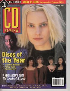 CD Review Magazine Jan. 1994 - 330 Discs Rated  - audiophile mag  / e5