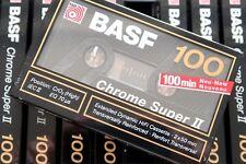 BASF Chrome Super II 100 High Bias Blank Audio Cassette - Germany 1989