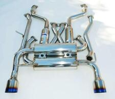 Invidia Gemini Dual Stainless Steel Cat Back Exhaust Titanium Tips Z33 350z New
