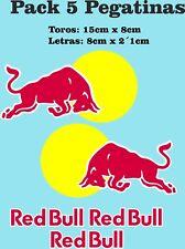 5x Pegatinas Toro RED Sticker Vinilo Adhesivo coche moto casco Bull