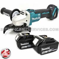 Makita XAG04Z 18V Brushless Cordless 4-1/2 5 in Cut-Off Grinder 5.0 Ah Batteries