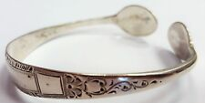 Solid 925 sterling silver hallmarked antique 1901 spoon tongs bangle bracelet