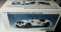 AutoArt 1938 BMW 328 Roadster Mille Miglia Mint in box White 1/18 Beautiful