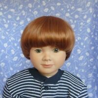 Unbranded BOB Auburn Doll Wig Full Cap Size 11 Short Bob, Baby, Toddler, Child