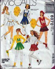 McCalls Pattern 6070 Costume Uniform Cheerleader Majorette Sports Girls Size 12