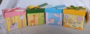 Folded Gift Box Children Ribbon Present Christmas Birthday Party Jewellery Bag