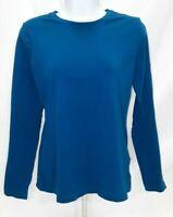Women's Small Blue Green Van Heusen Long Sleeve Shirt