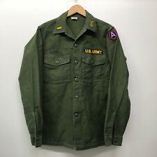 "Vintage OG107 / Fatigue Shirt, Size 15 1/2"" x 35"" US Army 1960-70s   B-21"