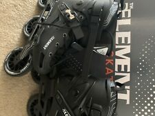 (5th Element 3 wheels) inline skates size 10 - worn only 4 times.
