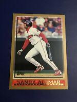 1998 Topps # 135 SANDY ALOMAR JR Cleveland Indians Baseball Card Nice !