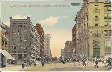 16th Street South From Douglas in Omaha NE Postcard