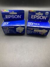 GENUINE Epson Lot Of 2 S020089 Ink Stylus Color 720/1440 600Q