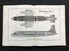 DOUGLAS DC-4 CANADAIR 4 Orig FACTORY SALES BROCHURE BOOK, 1946 Airplane Airliner