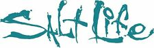 """Salt Life Signature """"TEAL 06 inch Small Decal - UV rated vinyl *FREE SHIPPING*"""