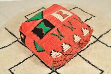 Moroccan red pouf, Vintage Pouf, berber pouf,Floor pillow,Moroccan floor cushion