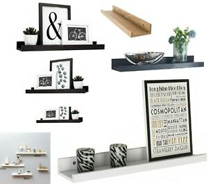 Wooden Floating Shelves Shelf Kit Wall Mounted Display Unit Home Office Decor