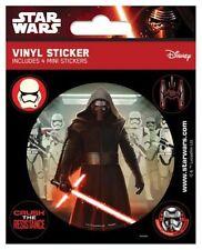 Star Wars Episode VII (kylo Ren) Set of 5 Vinyl Stickers Decals Official Licens