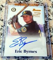 ERIC BYRNES 2000 Bowman #1 Draft Pick Auto Rookie Card RC Oakland A's 109 HRs
