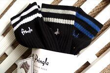3 PAIRS - PRINGLE Cotton Crew Sports Socks UK foot 7-11 , Eu40-46 Golf BLACK