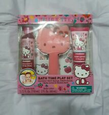 New in Box Hello Kitty Bath Time Play Set, Strawberry Scented
