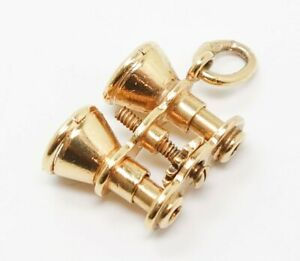 Unusual Vintage 14K Gold Working Opera Glasses Charm Bracelet Charm
