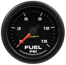 "Auto Meter 9261 Extreme Environment 2-1/16"" Fuel Pressure 15psi With Warn NEW"