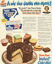 1949 Vintage ad for Swans Down Instant Cake Mix/Chocolate Cake (081313)