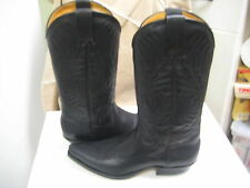 Tony Mora Women's  Black Greasy Leather Western Boot 3389 Size US 9.5 M New