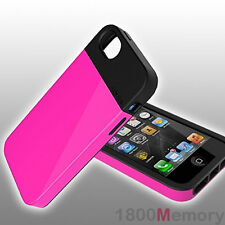 GENUINE LunaTik Flak Case Cover Black Pink Dual Layer TPU For Apple iPhone 5 5S