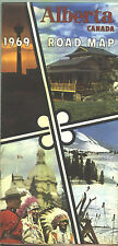 1969 Alberta Province-issued Vintage Road Map