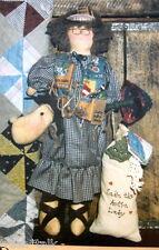"Sadie Auction Lady cloth doll 17"" pattern Moose head"