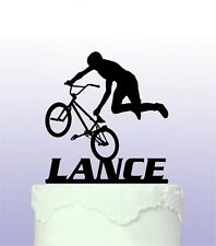 Personalised  BMX Cake Topper